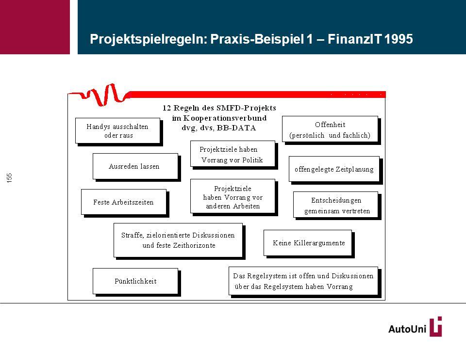 Projektspielregeln: Praxis-Beispiel 1 – FinanzIT 1995 155
