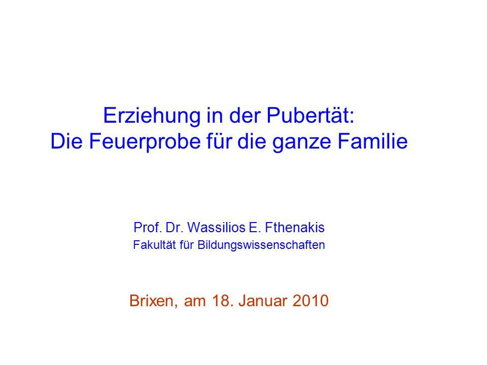 L Erziehung in der Pubertät: Die Feuerprobe für die ganze Familie Prof.