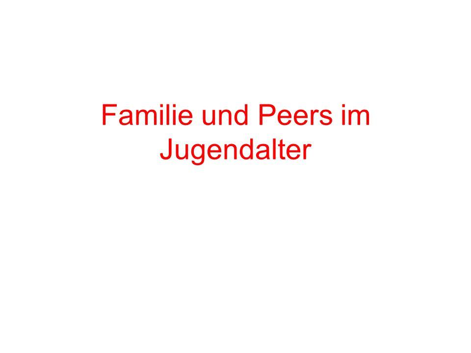 Familie und Peers im Jugendalter