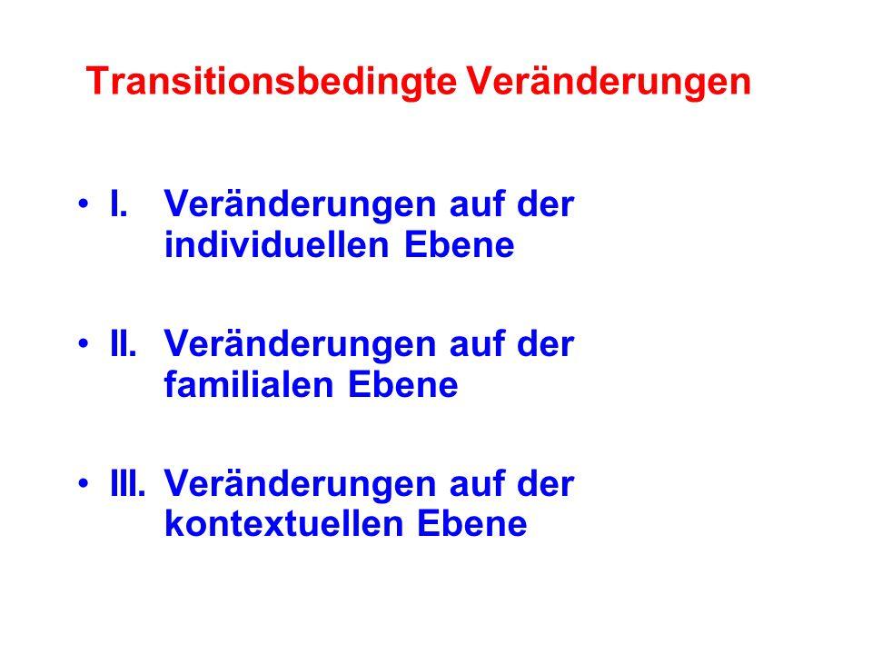 I.Veränderungen auf der individuellen Ebene II.Veränderungen auf der familialen Ebene III.