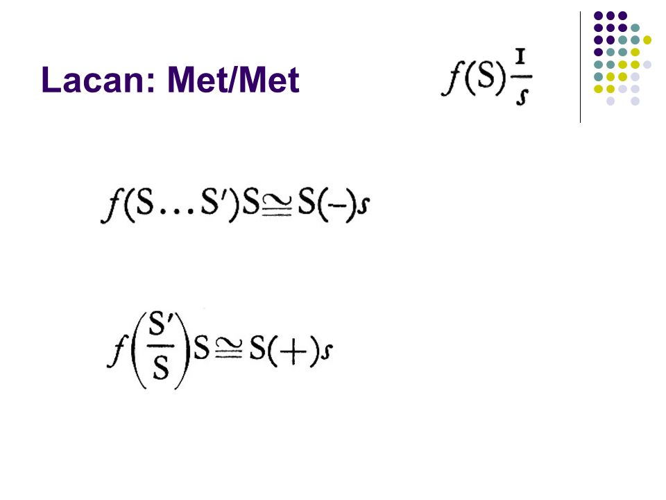 Lacan: Met/Met