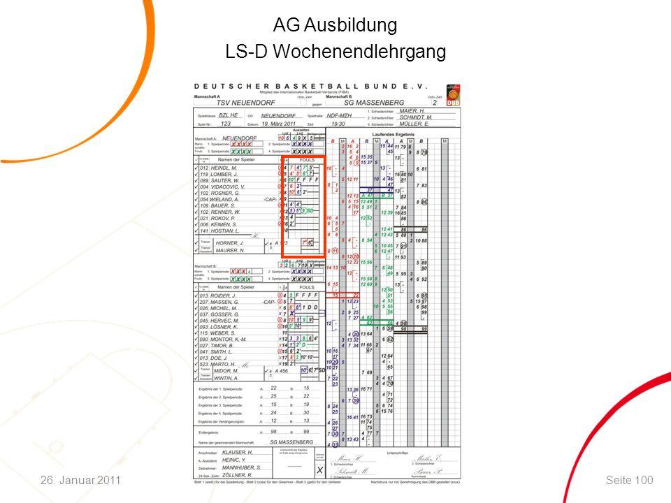AG Ausbildung LS-D Wochenendlehrgang Seite 10026. Januar 2011