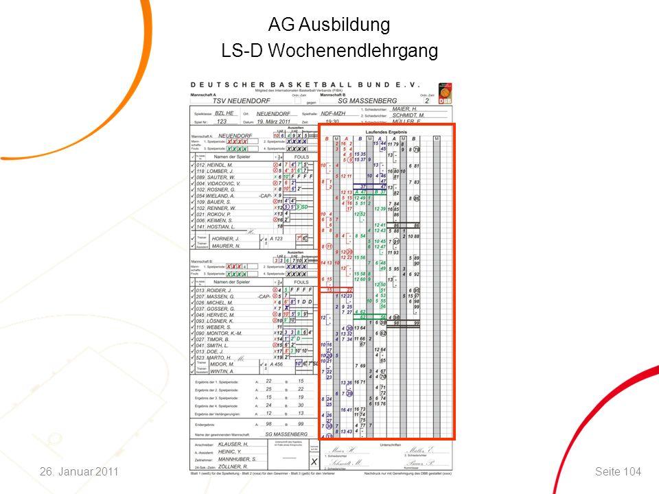 AG Ausbildung LS-D Wochenendlehrgang Seite 10426. Januar 2011