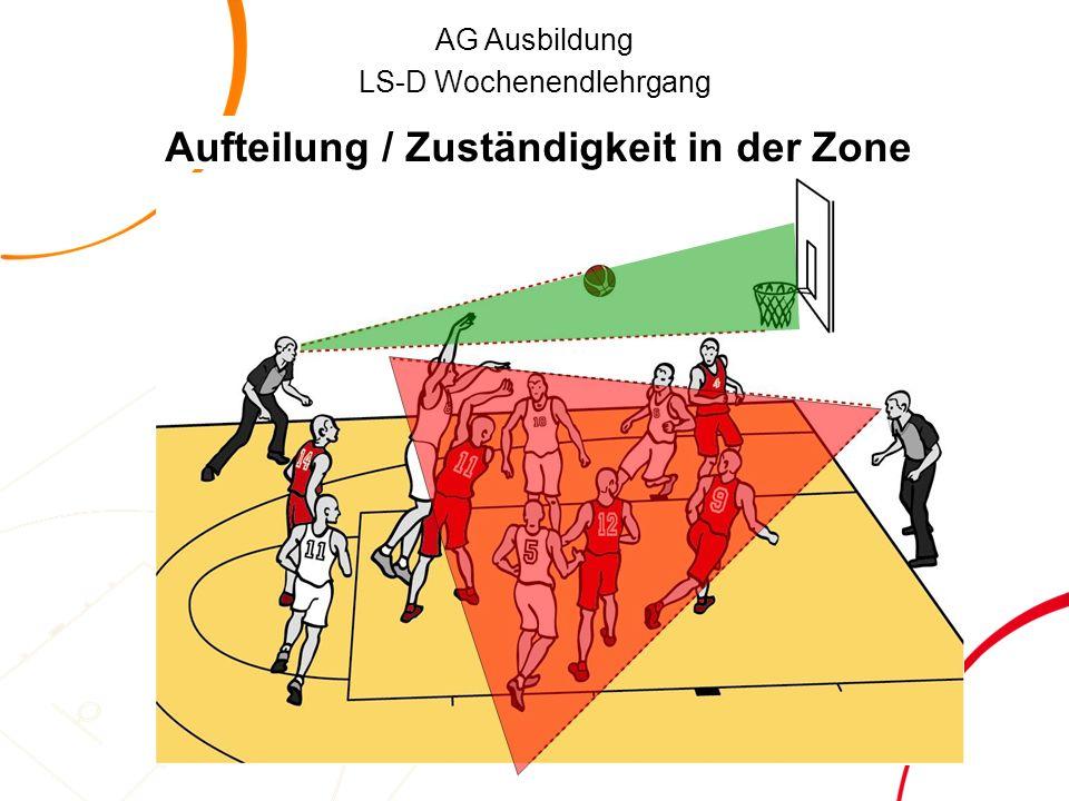AG Ausbildung LS-D Wochenendlehrgang Aufteilung / Zuständigkeit in der Zone