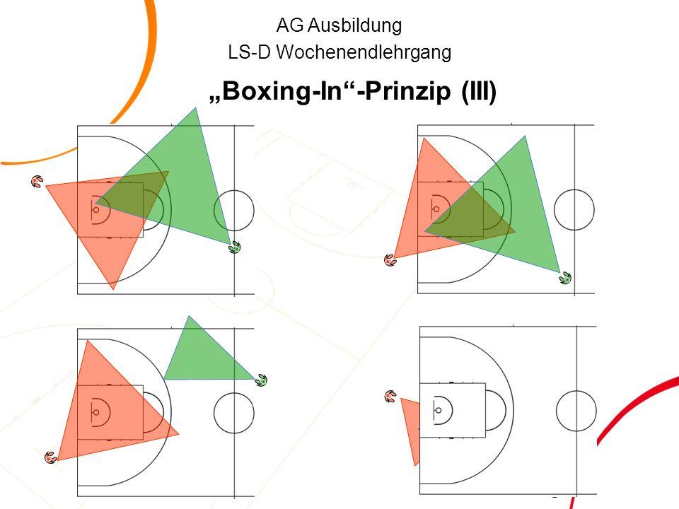 "AG Ausbildung LS-D Wochenendlehrgang ""Boxing-In -Prinzip (III)"