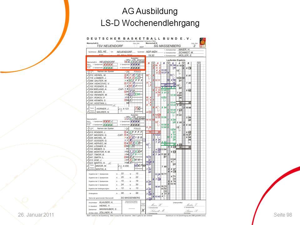 AG Ausbildung LS-D Wochenendlehrgang Seite 9826. Januar 2011