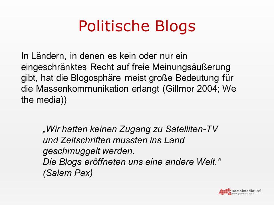 """Politische Blogs """"Wir hatten keinen Zugang zu Satelliten-TV und Zeitschriften mussten ins Land geschmuggelt werden."""