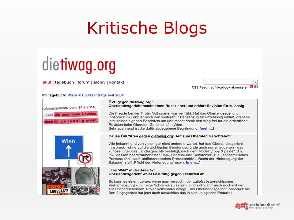Kritische Blogs