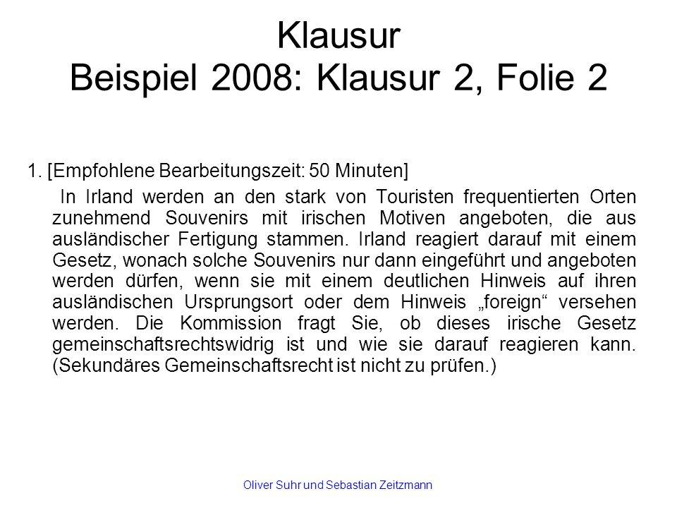 Klausur Beispiel 2008: Klausur 2, Folie 2 1.