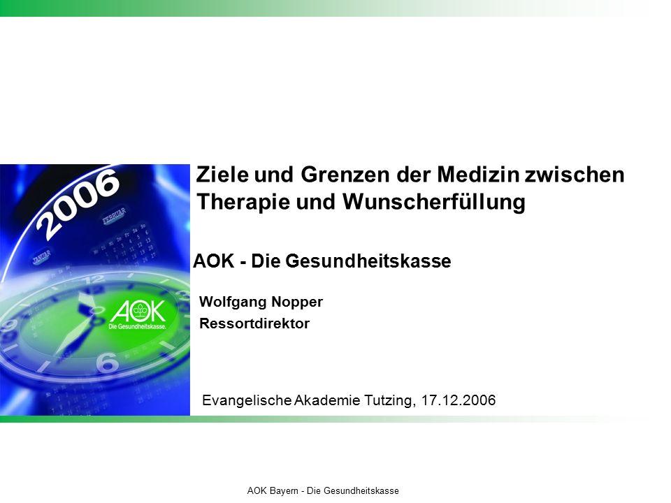 """12 AOK Bayern Autor eintragen jjmmtt_Dateiname Beschluss des Bundesverfassungs- gerichts vom 06.12.2005, Az.: 1 BvR 347/98 """"Es ist mit den Grundrechten aus Art."""