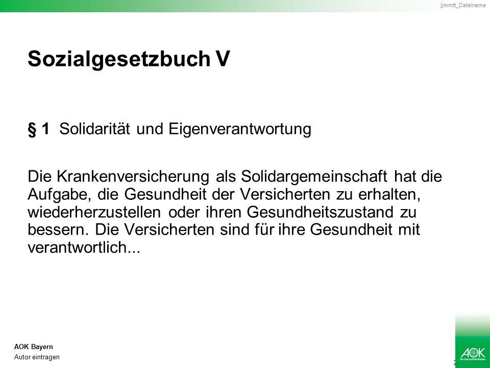 3 AOK Bayern Autor eintragen jjmmtt_Dateiname Sozialgesetzbuch V § 2 Abs.