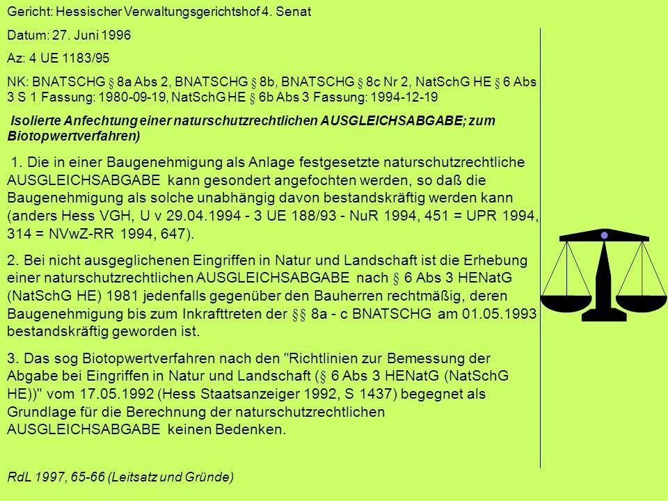 Gericht: Hessischer Verwaltungsgerichtshof 4. Senat Datum: 27.