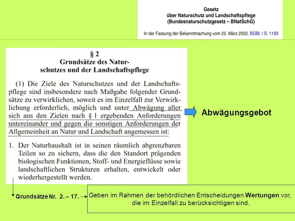 Grundsätze Nr. 2. – 17.