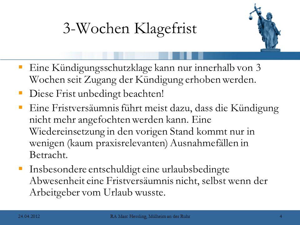 10.12.2007RA Marc Hessling, Mülheim an der Ruhr95 Die Betriebsratsanhörung gem.