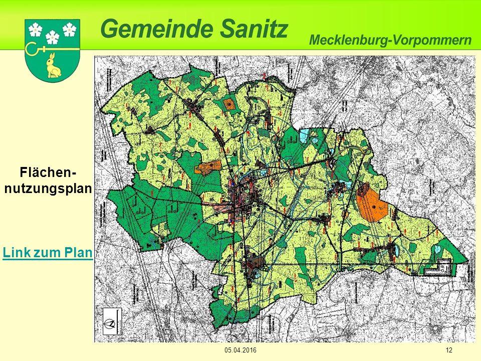 12 Flächen- nutzungsplan Link zum Plan 05.04.2016