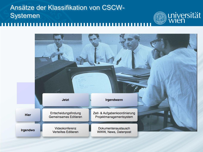 Ansätze der Klassifikation von CSCW- Systemen