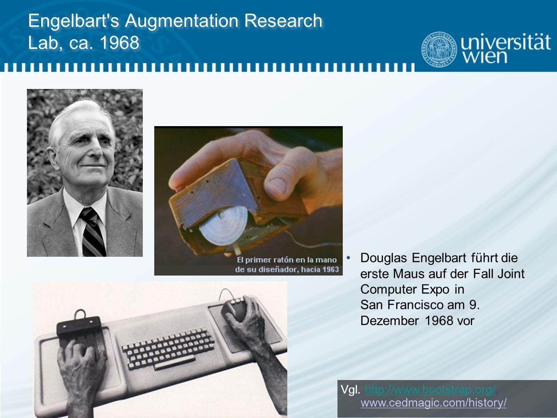 Engelbart s Augmentation Research Lab, ca.1968 Vgl.
