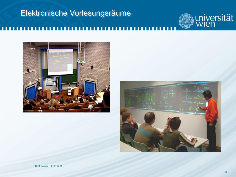 35 Elektronische Vorlesungsräume http://www.e-kreide.dehttp://www.e-kreide.de/