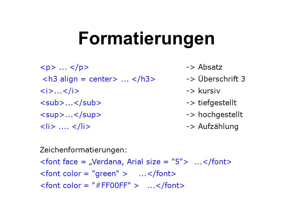 Formatierungen... -> Absatz... -> Überschrift 3...