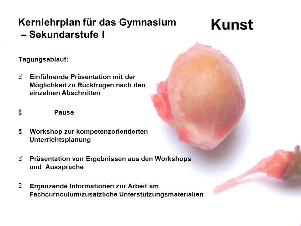 13 Kernlehrplan für das Gymnasium – Sekundarstufe I ProduktionRezeption KOMPETENZEN Kunst die Struktur I.