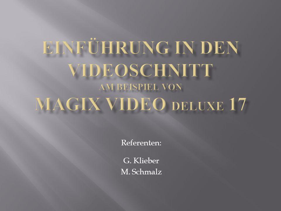 Referenten: G. Klieber M. Schmalz