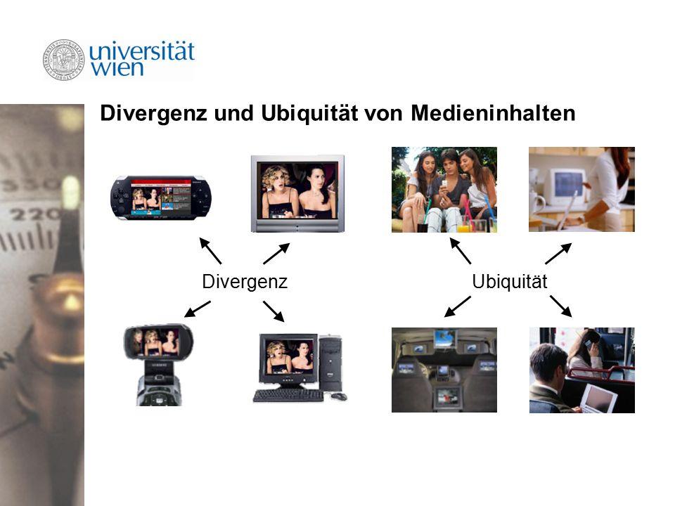 Divergenz und Ubiquität von Medieninhalten DivergenzUbiquität