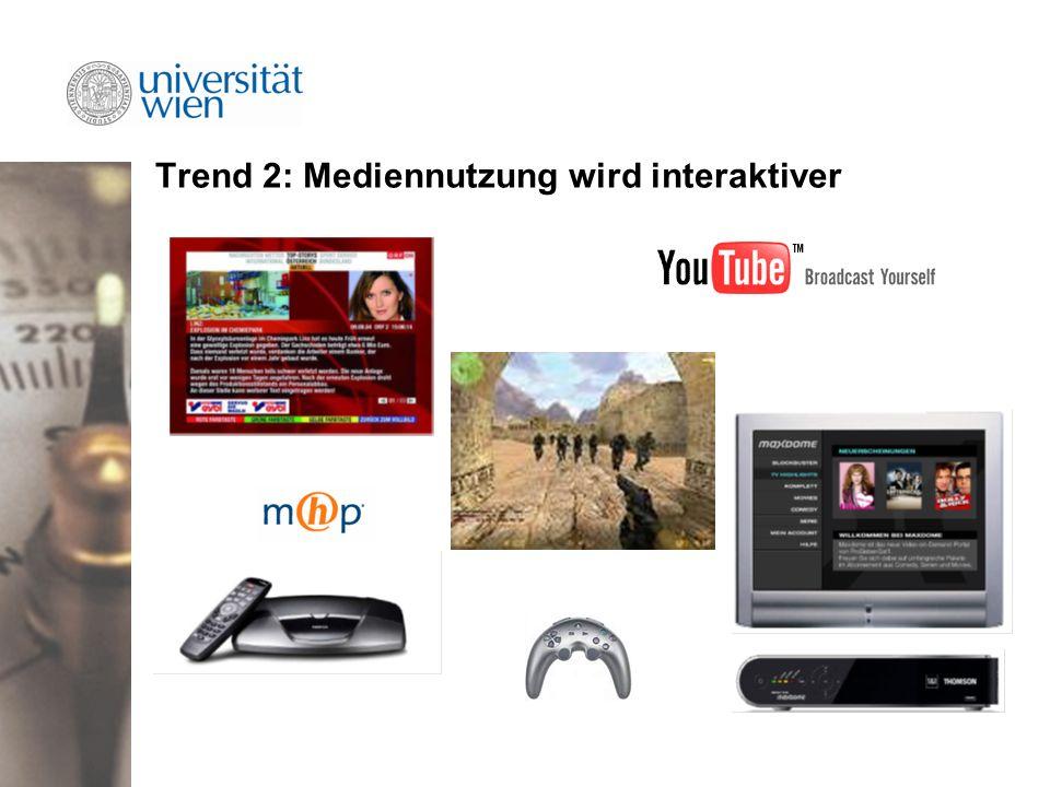 Trend 2: Mediennutzung wird interaktiver