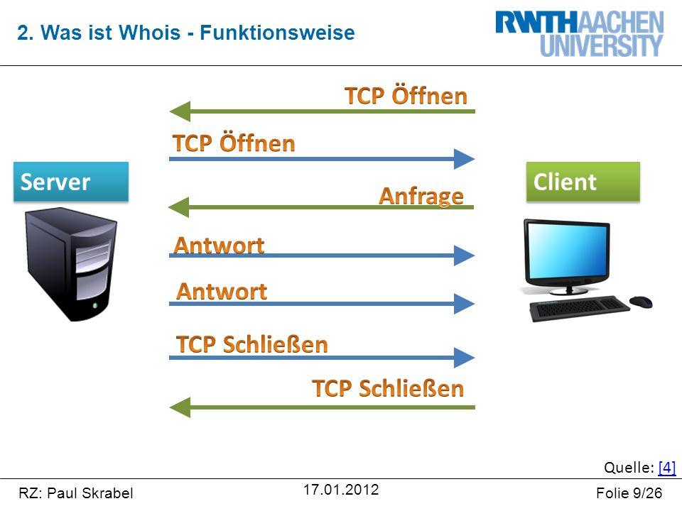 RZ: Paul SkrabelFolie 20/26 17.01.2012  Gegenüberstellung  IPv4 dezimal - IPv6 hexadezimal  IPv6 Adresse ist länger als IPv4 Adresse  IPv6 hat wesentlich mehr Adressen  Problem Heute  Internet expandiert immer weiter  IPv4 Adressen reichen nicht mehr aus 3.