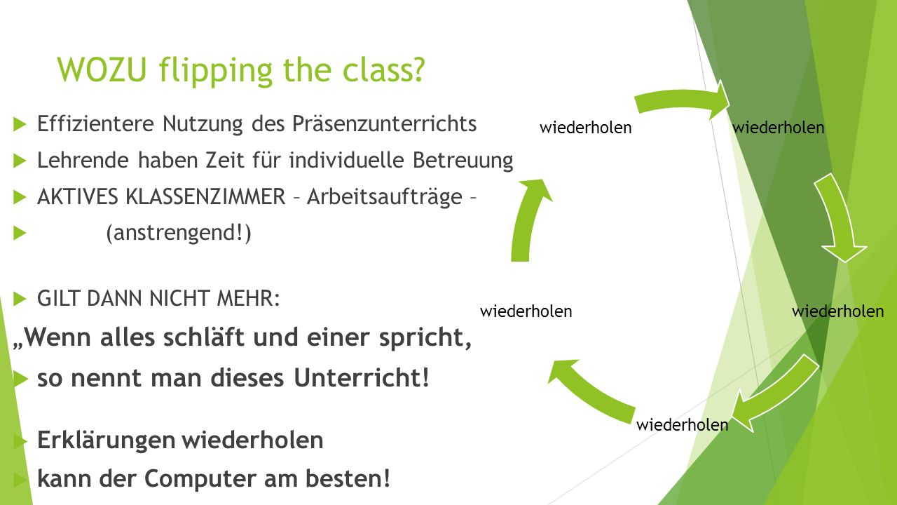 """Was ist """"flipping the class ?"""