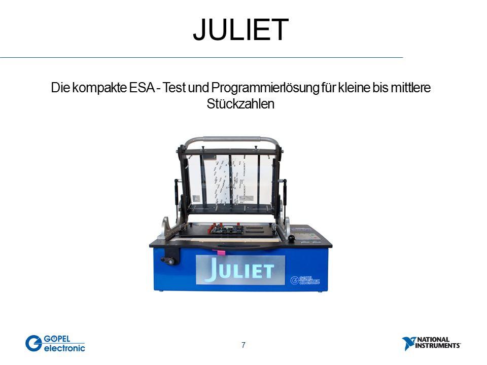 7 JULIET Die kompakte ESA - Test und Programmierlösung für kleine bis mittlere Stückzahlen