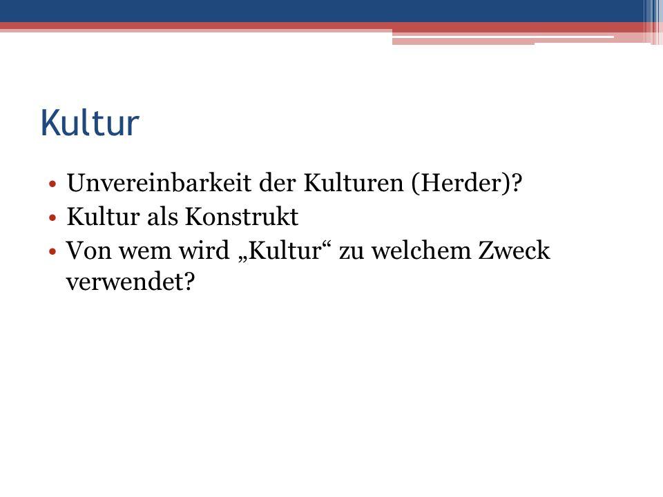 Kultur Unvereinbarkeit der Kulturen (Herder).