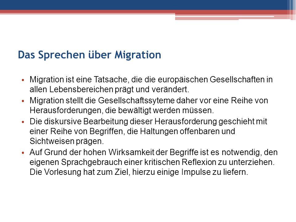 Das Sprechen über Migration Migration ist eine Tatsache, die die europäischen Gesellschaften in allen Lebensbereichen prägt und verändert.