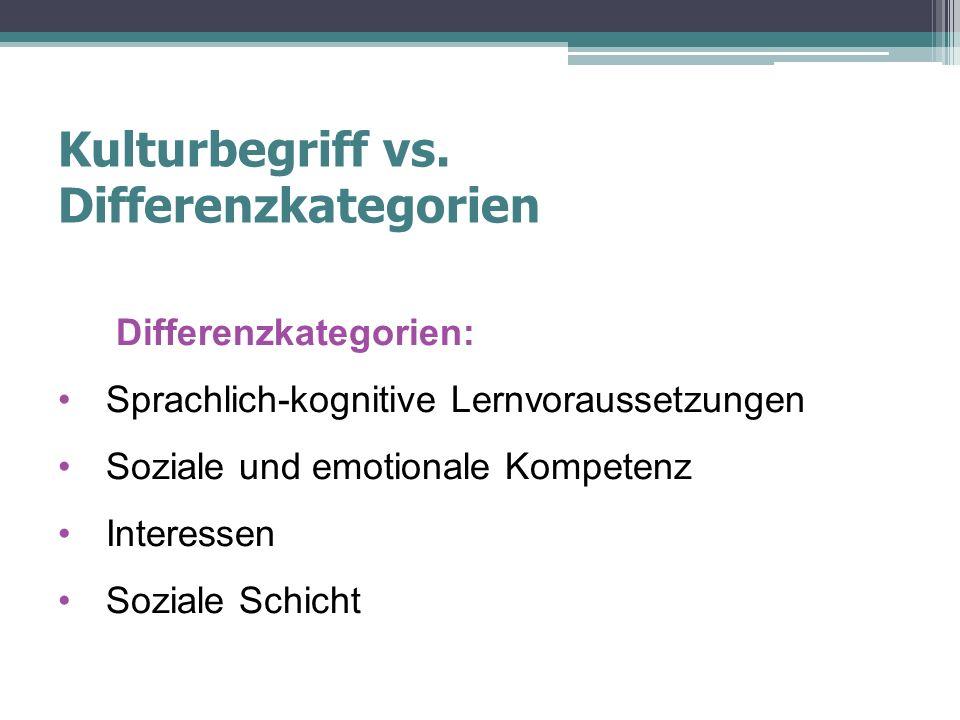 Kulturbegriff vs.
