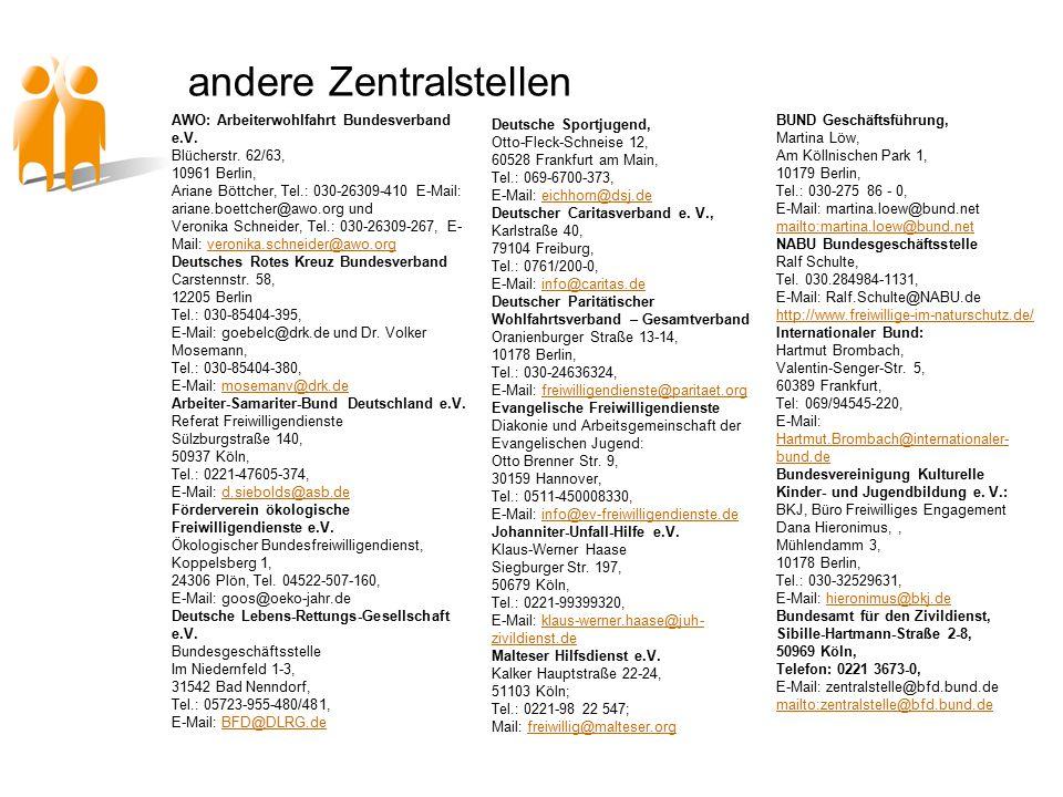 andere Zentralstellen AWO: Arbeiterwohlfahrt Bundesverband e.V.