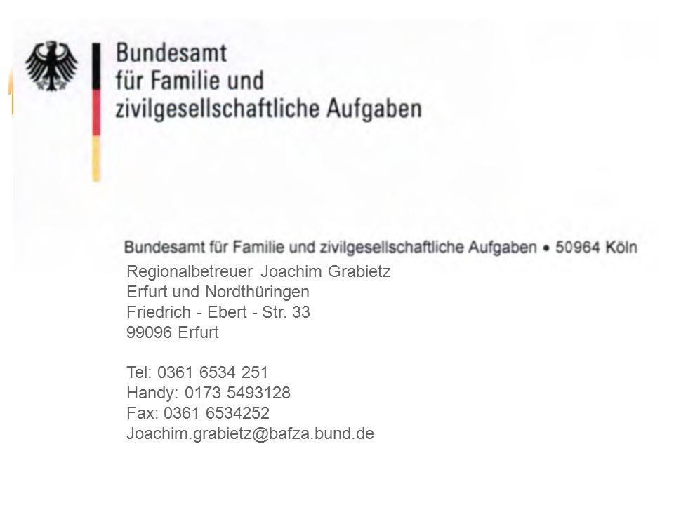Regionalbetreuer Joachim Grabietz Erfurt und Nordthüringen Friedrich - Ebert - Str.