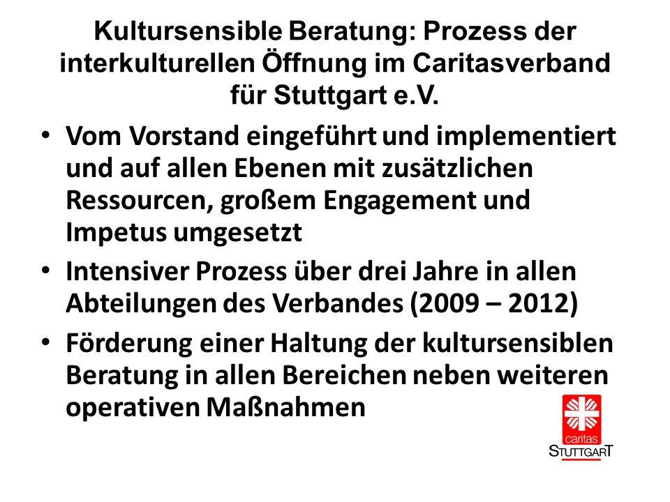 Kultursensible Beratung: Prozess der interkulturellen Öffnung im Caritasverband für Stuttgart e.V.
