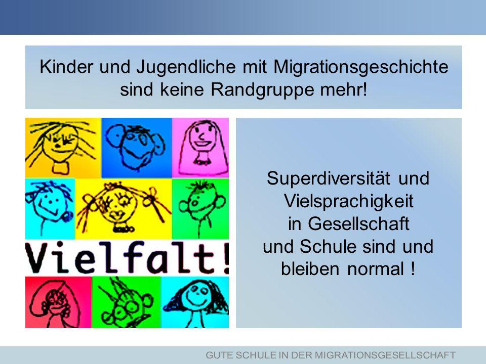 Kinder und Jugendliche mit Migrationsgeschichte sind keine Randgruppe mehr.