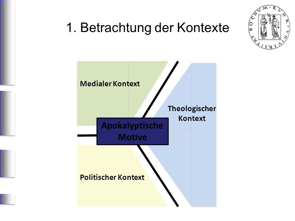 Theologischer Kontext Medialer Kontext Politischer Kontext Apokalyptische Motive 1. Betrachtung der Kontexte