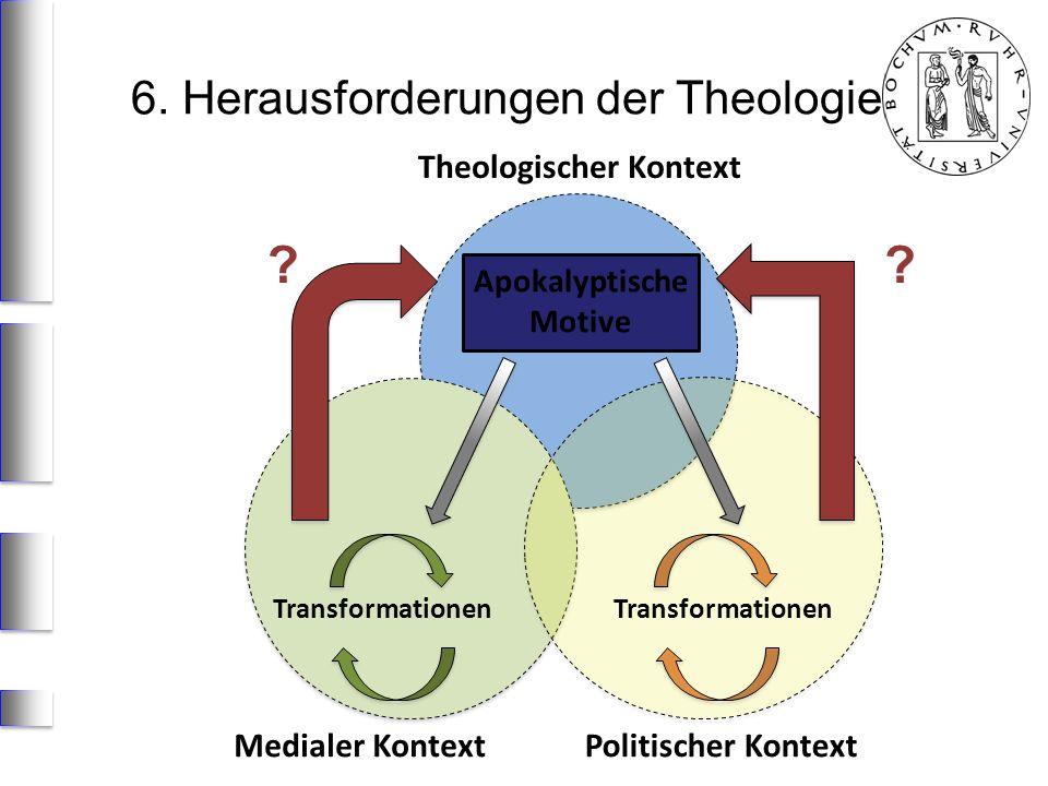Medialer KontextPolitischer Kontext Apokalyptische Motive Transformationen Theologischer Kontext 6. Herausforderungen der Theologie ??