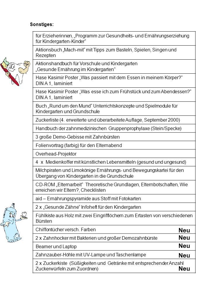 """Sonstiges: für Erzieherinnen, """"Programm zur Gesundheits- und Ernährungserziehung für Kindergarten-Kinder"""" Aktionsbuch """"Mach-mit"""" mit Tipps zum Basteln"""