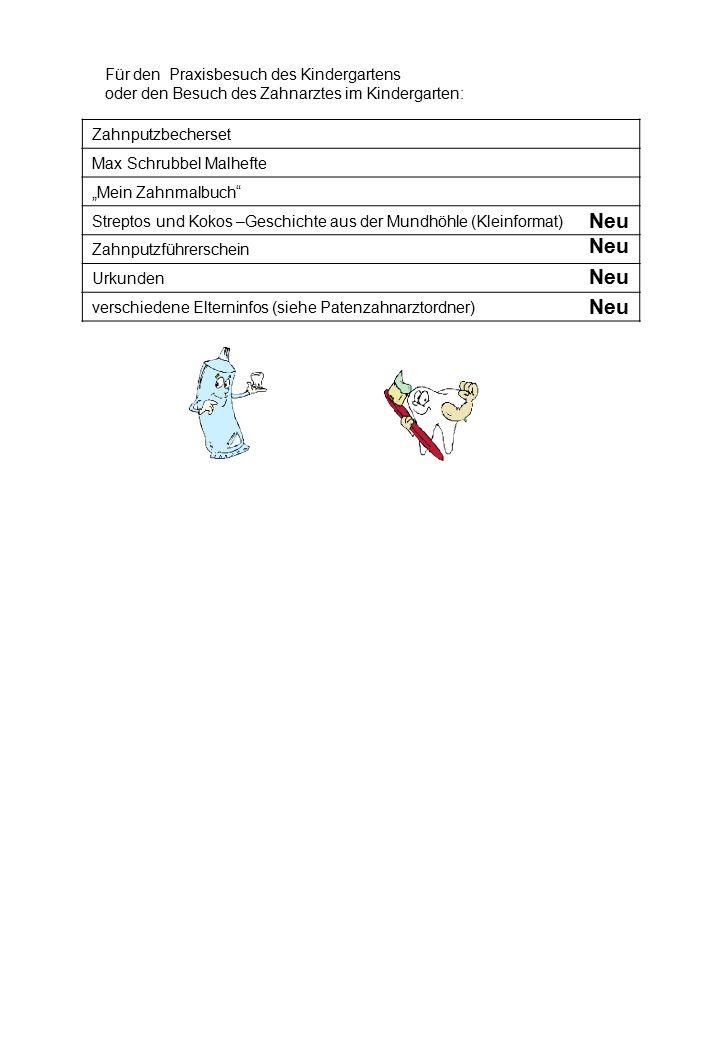 """Für den Praxisbesuch des Kindergartens oder den Besuch des Zahnarztes im Kindergarten: Zahnputzbecherset Max Schrubbel Malhefte """"Mein Zahnmalbuch"""" Str"""