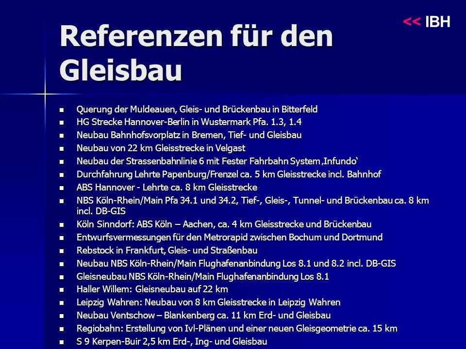 Referenzen für den Gleisbau << IBH Querung der Muldeauen, Gleis- und Brückenbau in Bitterfeld Querung der Muldeauen, Gleis- und Brückenbau in Bitterfeld HG Strecke Hannover-Berlin in Wustermark Pfa.
