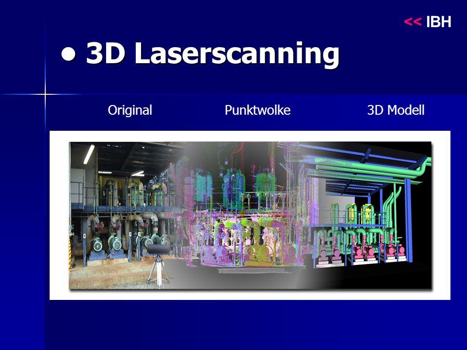 3D Laserscanning 3D Laserscanning Original Punktwolke 3D Modell << IBH