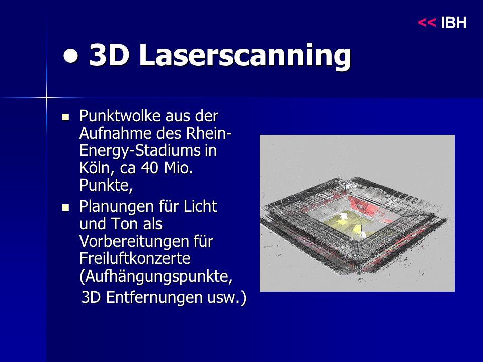 3D Laserscanning 3D Laserscanning Punktwolke aus der Aufnahme des Rhein- Energy-Stadiums in Köln, ca 40 Mio.