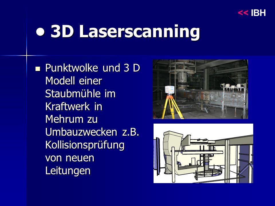 3D Laserscanning 3D Laserscanning Punktwolke und 3 D Modell einer Staubmühle im Kraftwerk in Mehrum zu Umbauzwecken z.B.