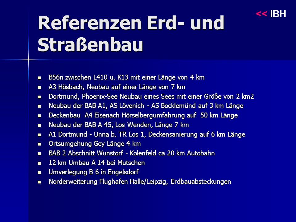 Referenzen Erd- und Straßenbau << IBH B56n zwischen L410 u.