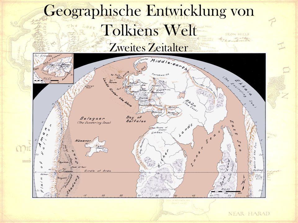 Geographische Entwicklung von Tolkiens Welt Zweites Zeitalter