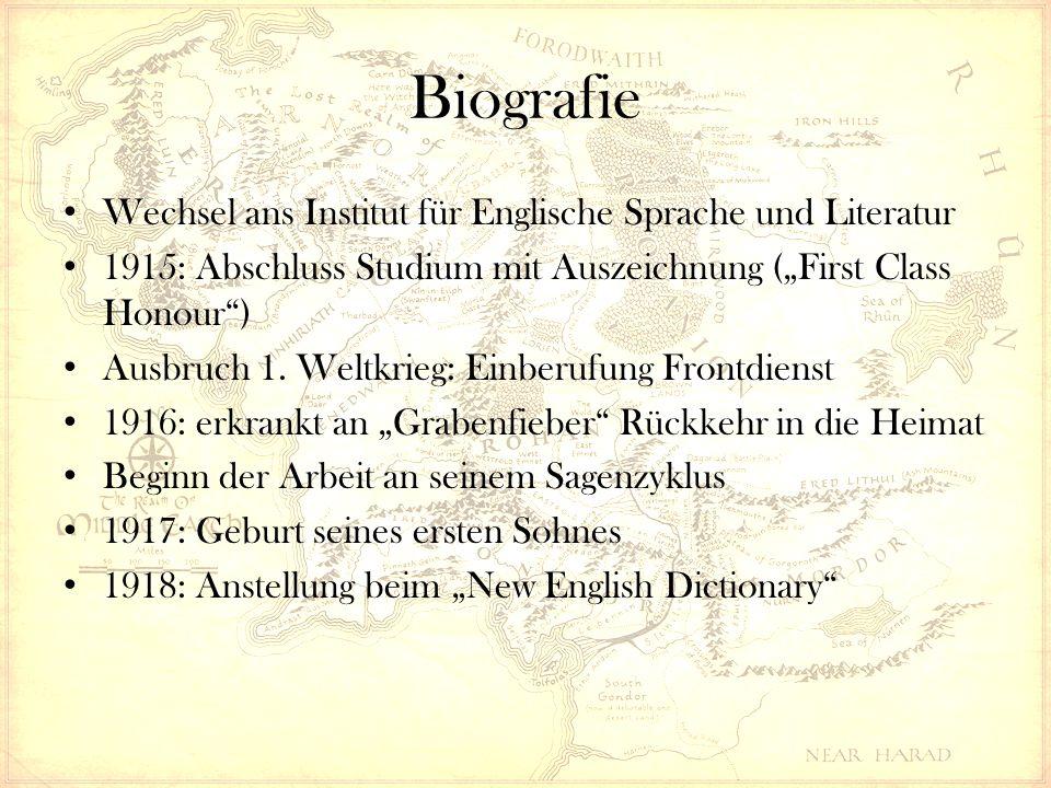 """Biografie Wechsel ans Institut für Englische Sprache und Literatur 1915: Abschluss Studium mit Auszeichnung (""""First Class Honour"""") Ausbruch 1. Weltkri"""