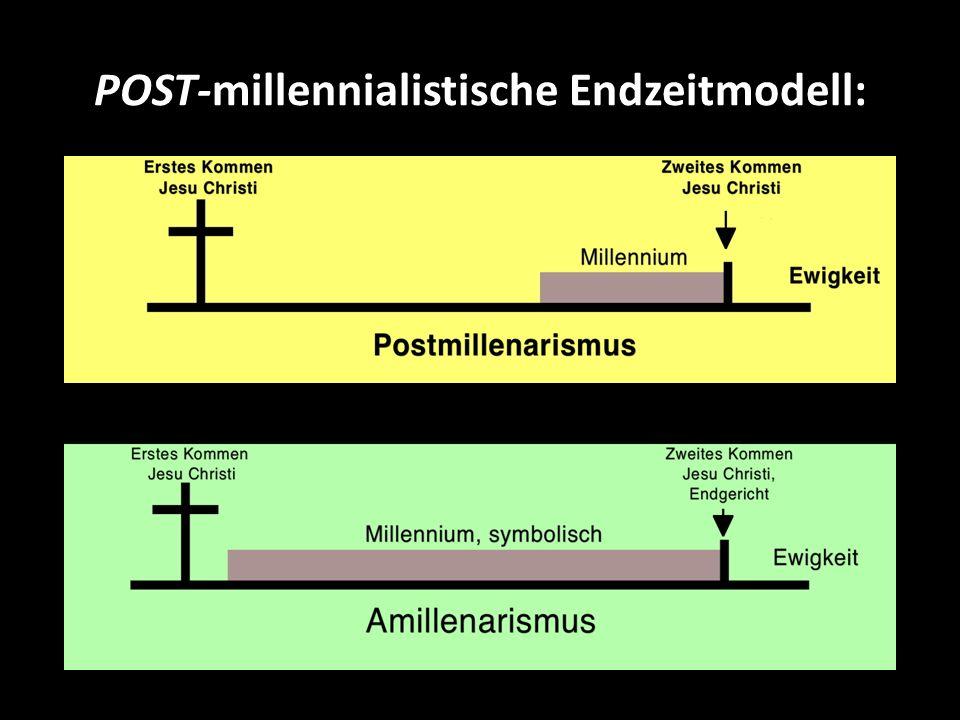 POST-millennialistische Endzeitmodell: