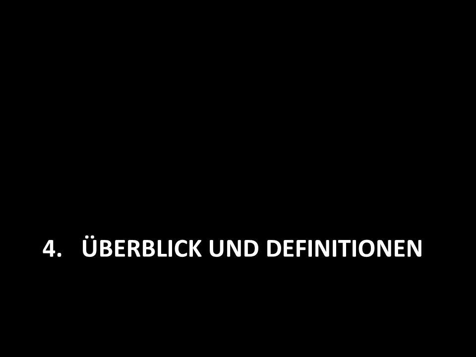 4.ÜBERBLICK UND DEFINITIONEN